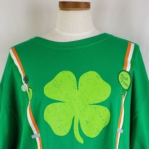 Green St Patrick's Day Suspender + Flare T-Shirt
